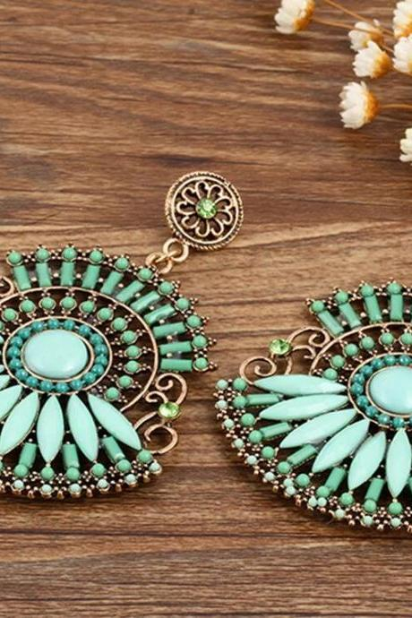 Fashion Women Boho earrings, Bohemia retro Earrings green color 11K34