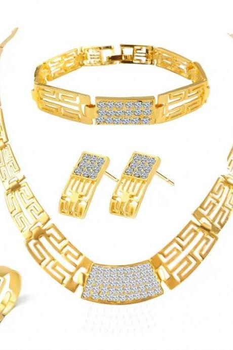 Fashion jewelry set wedding jewelry set necklace with earrings 32K58