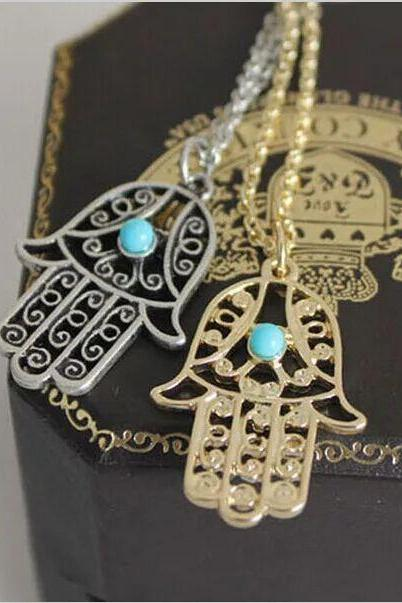 Women fashion necklace Exotic ethnic style necklace temperament small palm Necklaces Jewelry