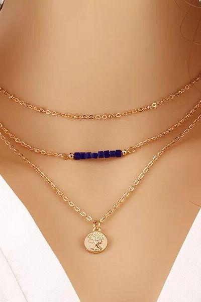 Women fashion necklace New Hot Fashion Gold Plated Fatima Hand Chain Bar Necklace Beads and Long Strip Pendant Necklaces Jewelry
